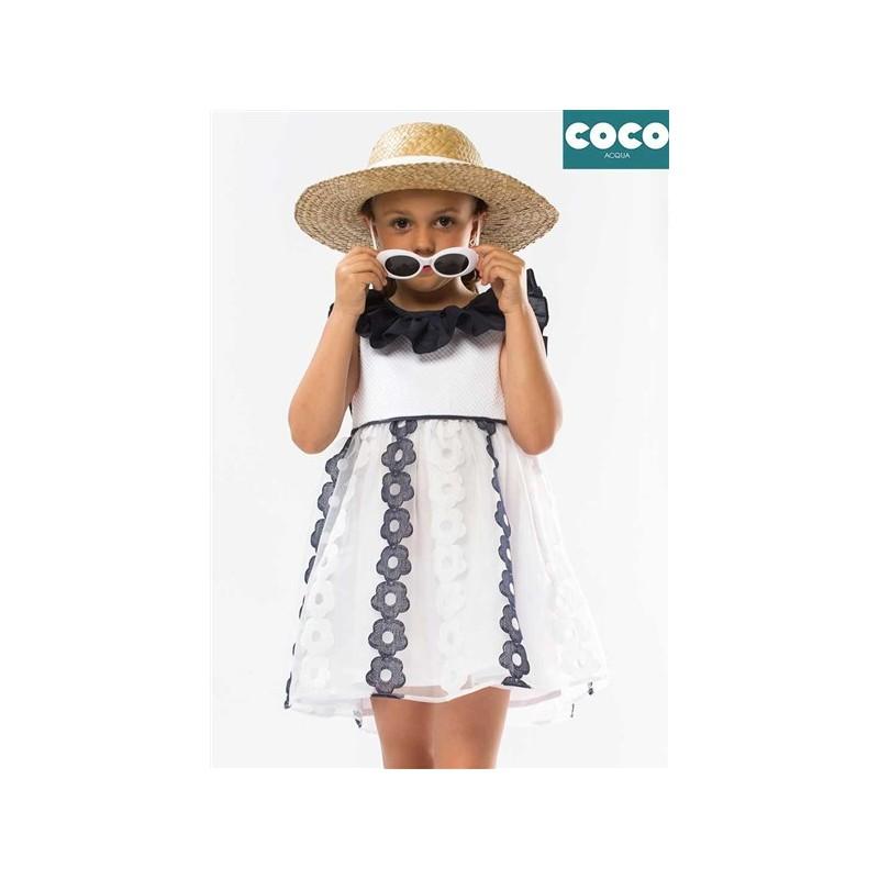 VESTIDO FLORES FIESTA NIÑA COCO ACQUA 50742