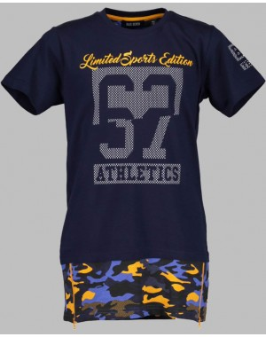 CAMISETA LARGA CAMUFLAJE JUNIOR BLUE SEVEN 602603